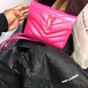Mini Ysl Pink Hand Bag, Comes With Strap!BRANDNEW